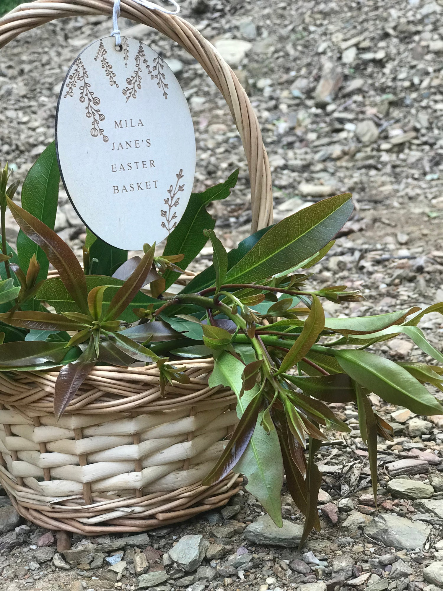 Image of PERSONALISED WILDFLOWER EASTER BASKET TAG