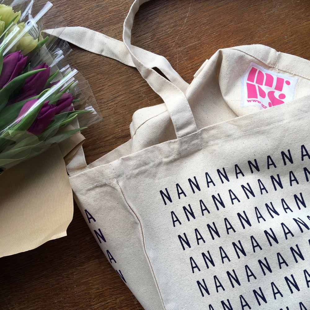 Image of NANA screenprinted canvas shopper tote bag