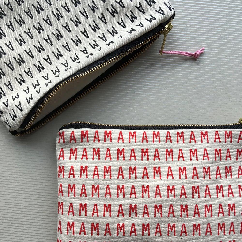 Image of MAMA large printed purse