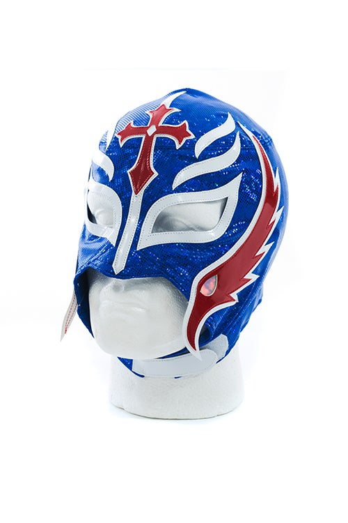 Image of Rey Mysterio x SPLX Authentic Lucha Mask (Blue/Red)