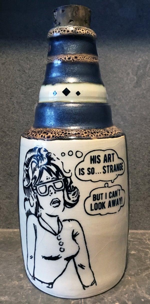 Image of Ceramic Bottle 15 - Strange Art
