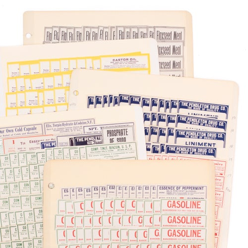 Image of Antique Pharmacy Labels - Set of 24