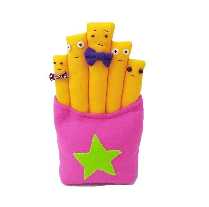 Image of mr and mrs french fries and there 3 children