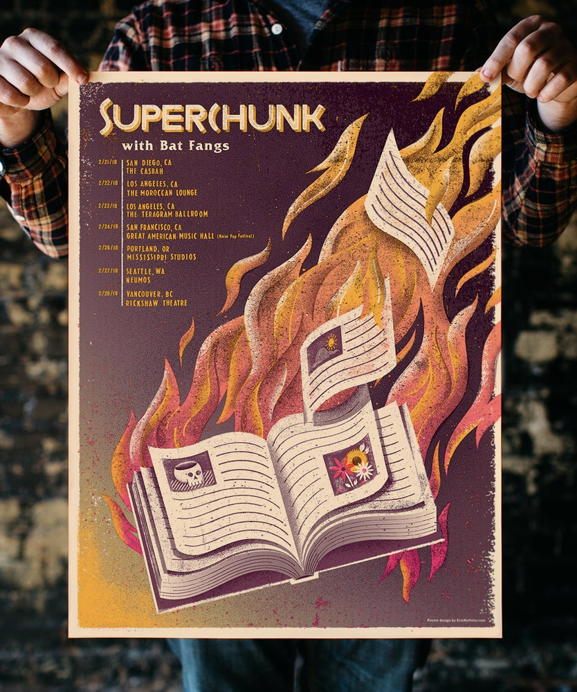 Image of Superchunk Tour Poster