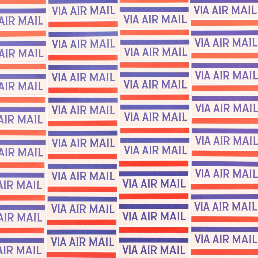 Image of Airmail Labels - Set of 25