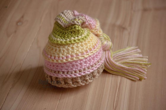 Image of Spring Tassel Hat- Baby Maize, Pink, Bone and Chartreuse