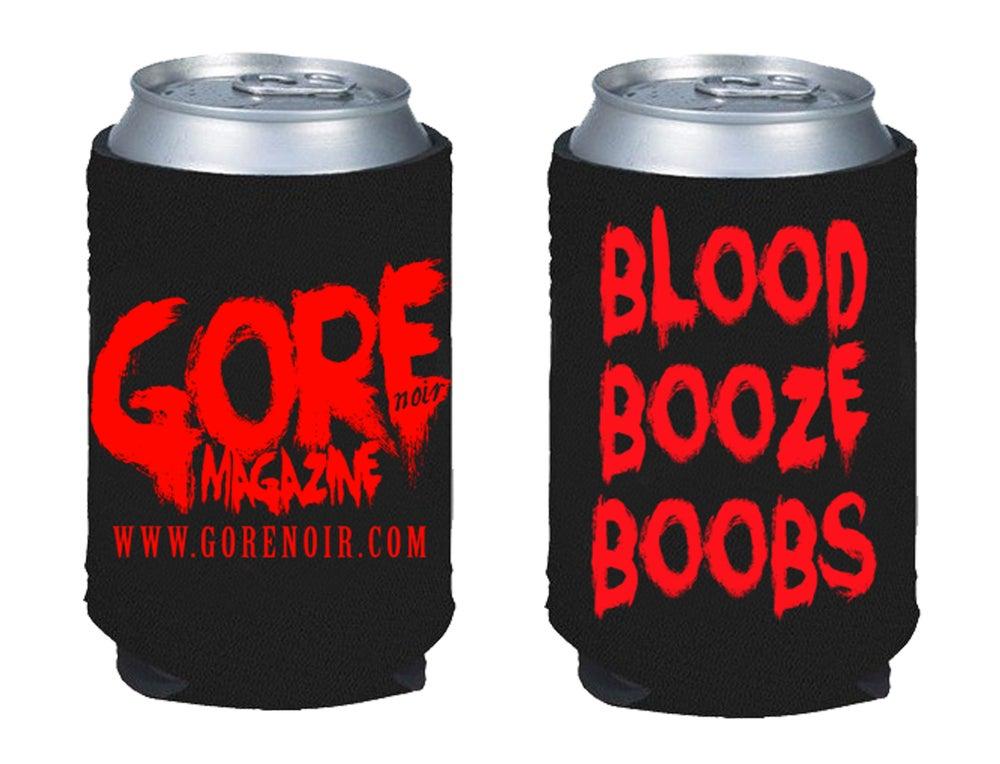 Image of Blood Booze Boobs Koozie (presale)