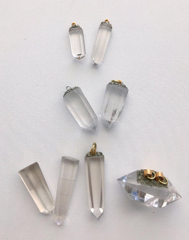 Image of Clear Quartz Pendants • Various Sizes