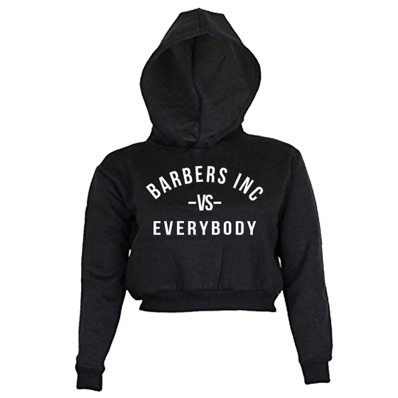 Image of Women's Crop Top Hoodie - TBI vs. Everybody