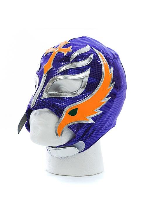 Image of Rey Mysterio x SPLX Authentic Lucha Mask (Purple/Orange)