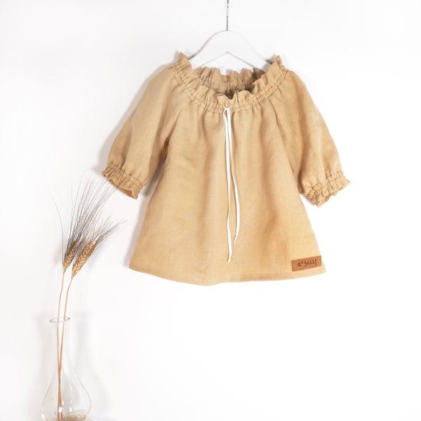Image of vestido dress robe romantique paille