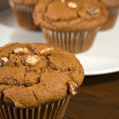 Image of pumpkin walnut muffin