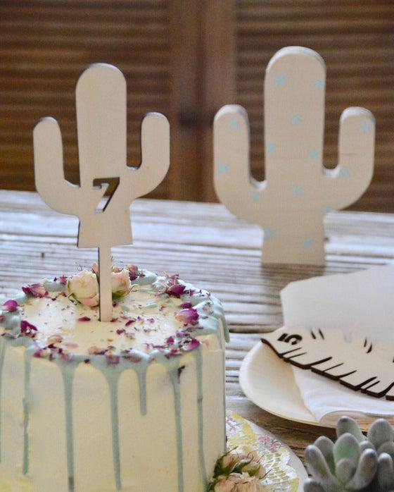 "Image of TOPPER ""cactus"" 🌵 personalizado"