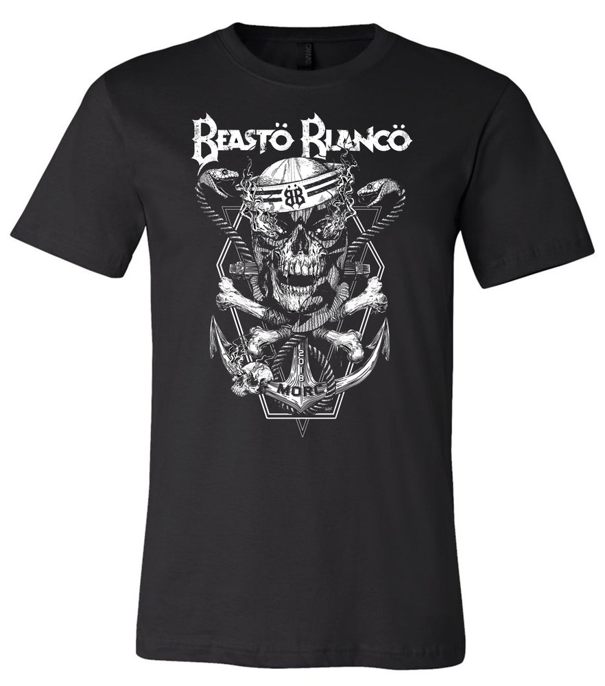 """Image of OFFICIAL - BEASTO BLANCO - LIMITED EDITION - M.O.R.C. """"BLACK SKULL"""" SHIRT"""