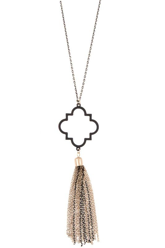 Image of Clover Pendant Chain with Tassel