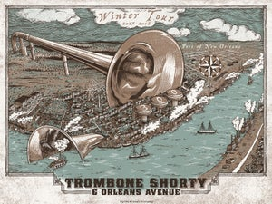 Image of Trombone Shorty & Orleans Avenue Winter 2018 Tour Poster