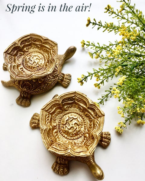 Image of Brass Turtle Shaped Diya