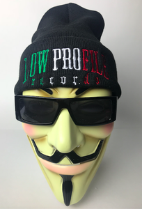 Image of BLACK  MEX COLORS Beanie LOWPROFILE RECORDS  ALL ORDERS COME WITH AUTOGRAPHED POSTERS & CARDS & MORE