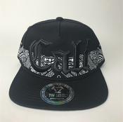Image of CALI HAT SNAP BACK Black Bandana