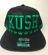 Image of kush Hat snap back BLACK GREEN