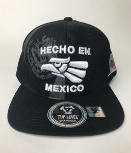Image of HAT Hecho en mexico snapback BLack & white  color