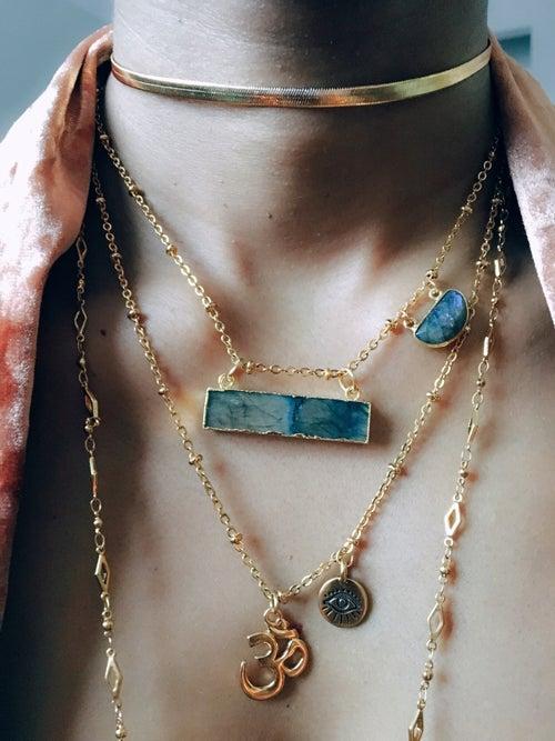 Image of VIBRANIUM Necklace • Labradorite Necklace