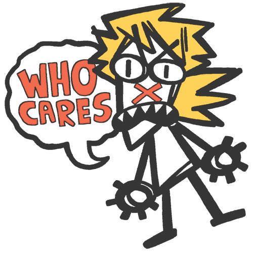 Image of WHO CARES? hard enamel pin