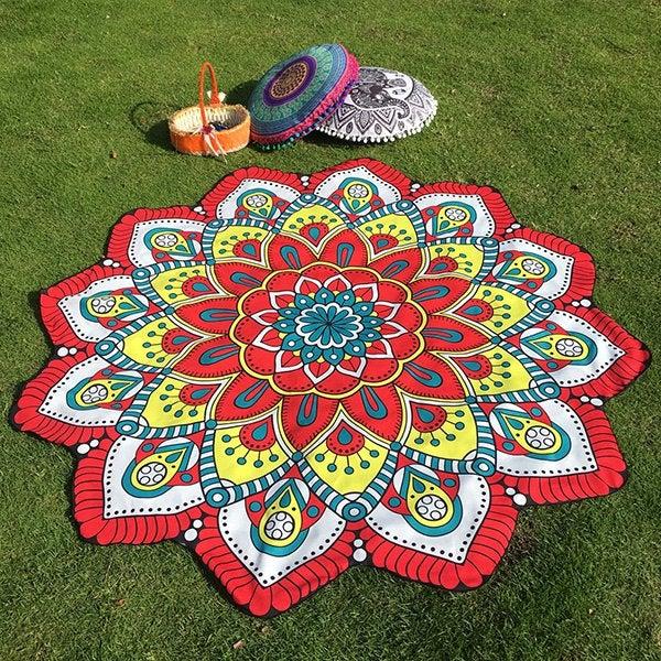 Image of Red Mandala Throw / Sarong / Wrap