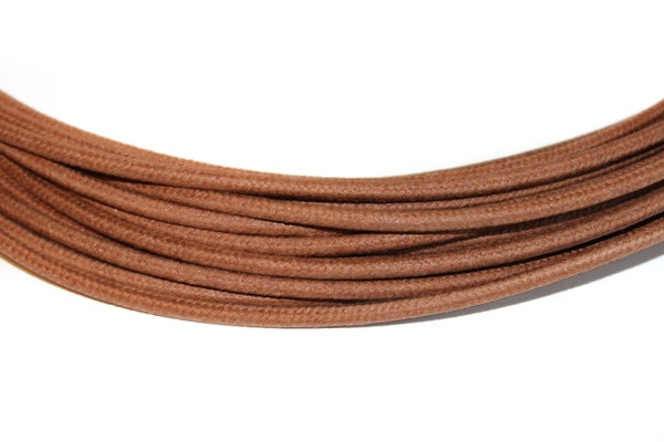 Image of Cotton Braided Wire - Brown - 16 gauge