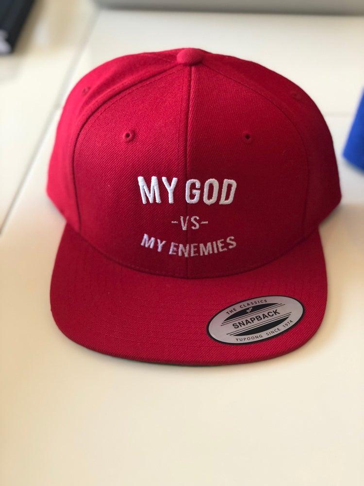 Image of Red SnapBack : My God Vs My Enemies