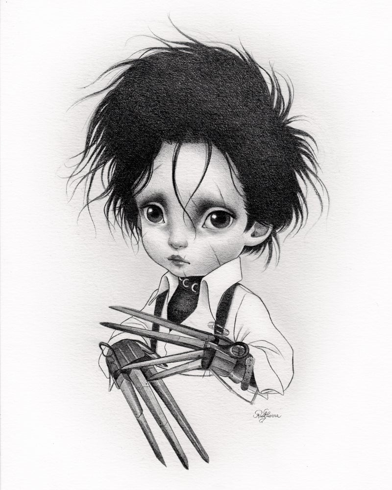 Image of Little Edward Scissor Hands Limited Edition Print by Raul Guerra