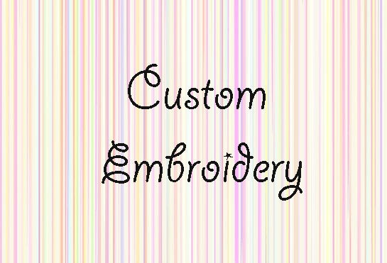 Image of Custom Embroidery Add-on