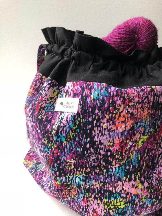 Image of Paint Splatter - Drawstring Project Bag