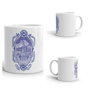 Image of Delft Volendamn Windmill Coffee Mug
