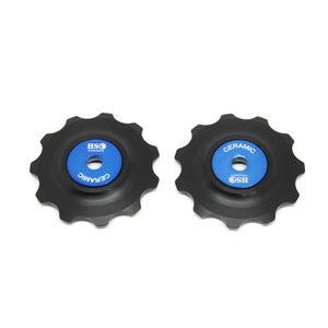 Image of 2018 Ceramic Jockey Wheel Set - 11T Delrin Wheels