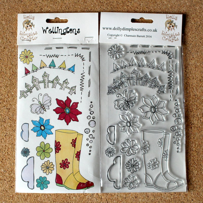 Image of Dolly Dimples - Wellingtons stamp set