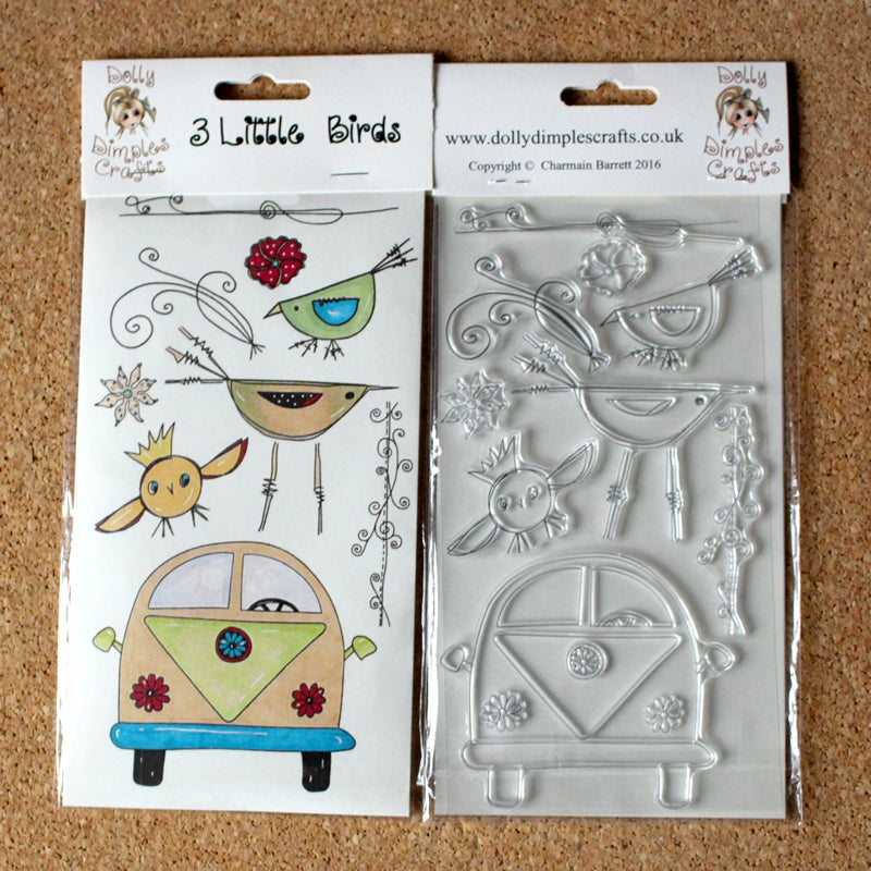 Image of Dolly Dimples - 3 Little Birds stamp set