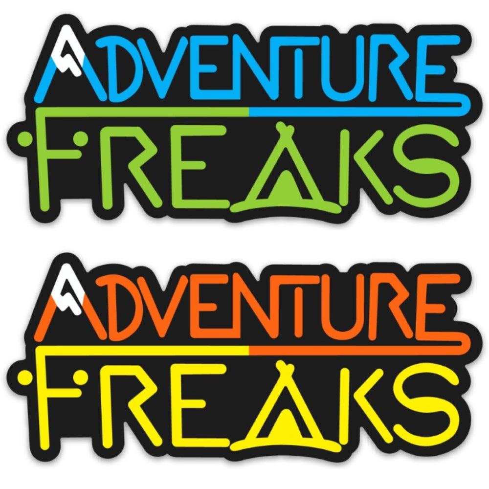 Image of Adventure Freaks Logo Sticker: Four Colors
