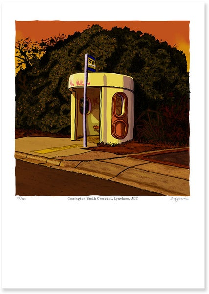 Image of Cossington Smith Crescent, Lyneham digital print