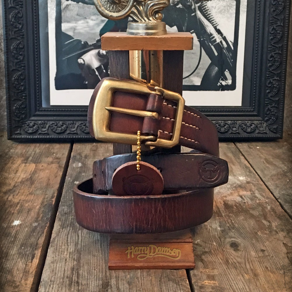 Image of THEDI LEATHERS BELT SLIM BROWN