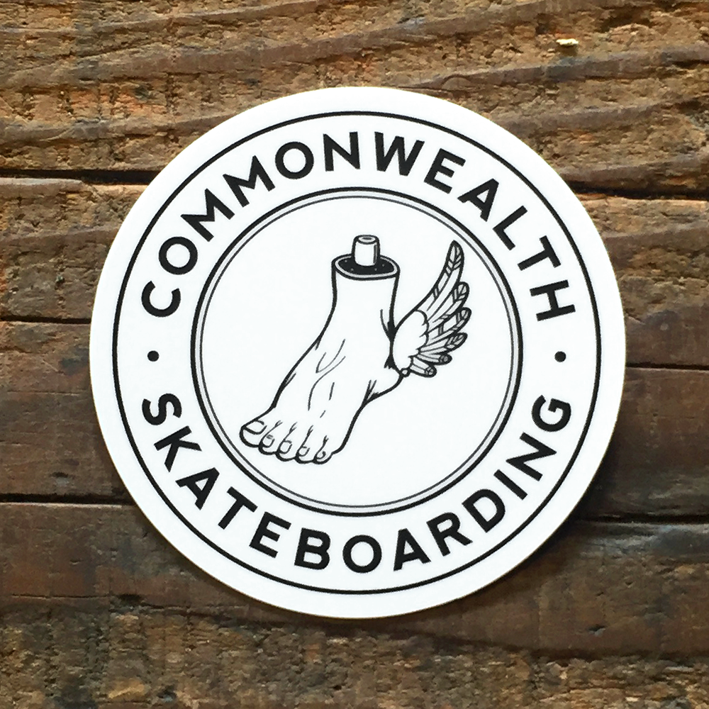 Image of Commonwealth Foot & Wings Circle Logo Sticker