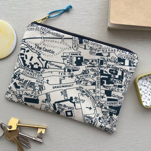 Image of Edinburgh Map Clutch Purse