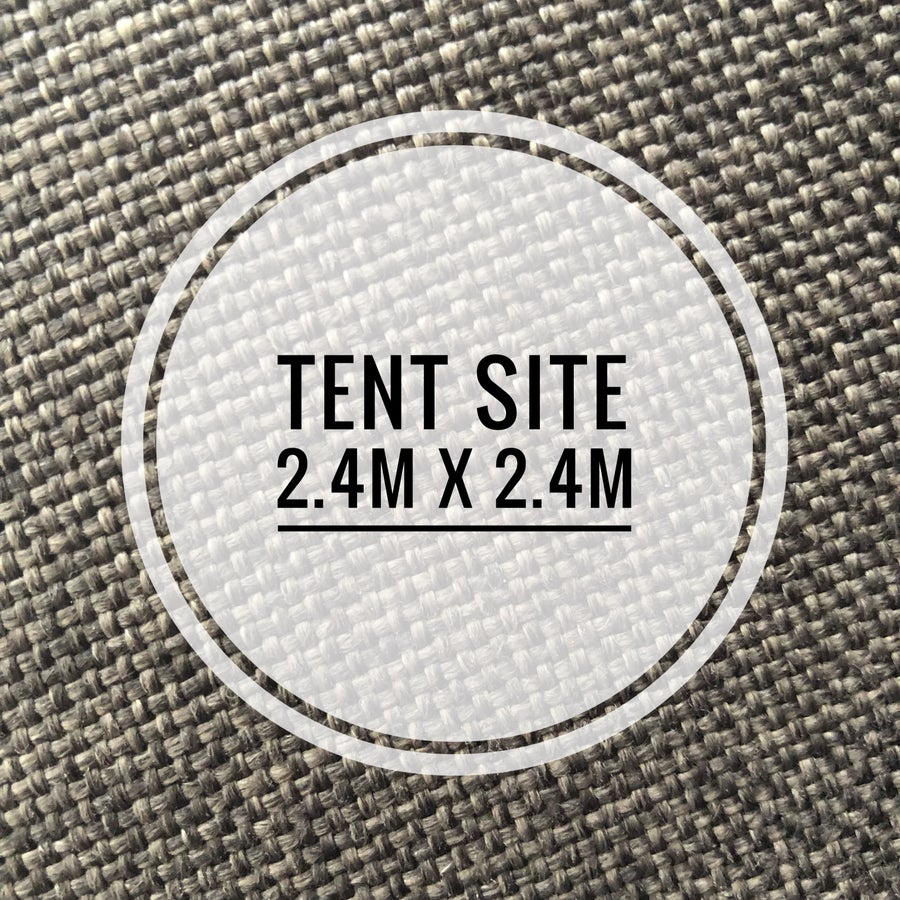 Image of 2.4 by 2.4 metre tent space