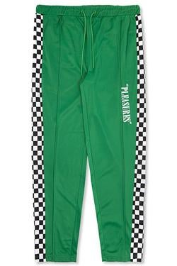Image of PLEASURES - CHECKERED TRACK PANTS (GREEN)