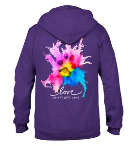 Image of Love Is All You Need Zip Hoodie