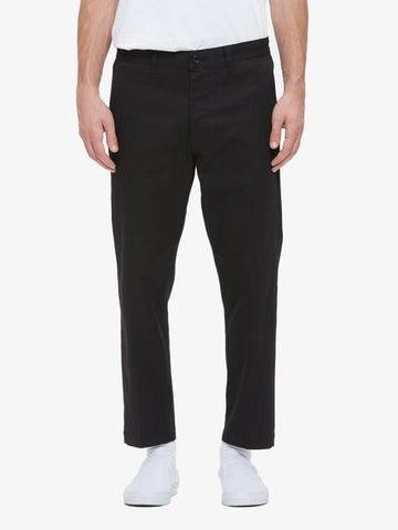 Image of OBEY - STRAGGLER FLOODED PANTS (BLACK)