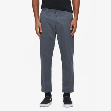 Image of 0BEY - STRAGGLER FLOODED PANTS (HEATHER GREY)