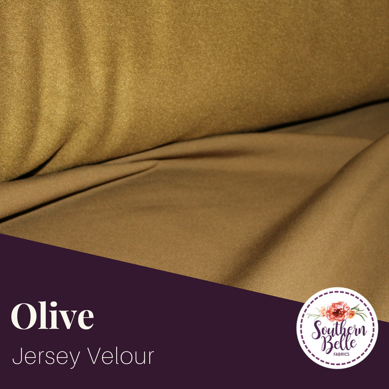 Image of Olive Jersey Velour - Instagram Hidden Deal of the Week