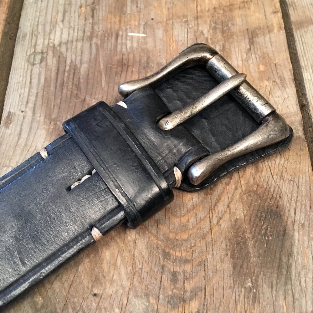 Image of THEDI LEATHERS WESTERN BELT BLACK