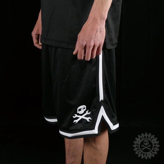 Image of Short Basket Stripe Mesh